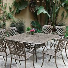 Cast Aluminum Patio Tables Darlee Sedona 9 Cast Aluminum Patio Dining Set Mocha