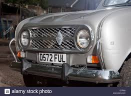 renault small renault 4 classic french small car face radiator and headlights