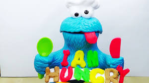 play doh cookie monster letter lunch youtube