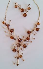 necklace online store images Topaz and gold sparkle necklace earrings two angel designs jpg