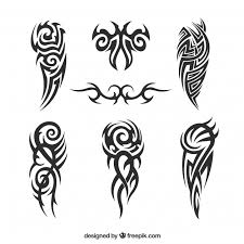 pack of tribal tattoos vector free download