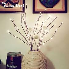 battery lighted willow branches festival decorative willow twig lighted 20 led branches string light