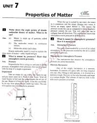 9th class physics notes unit u20137 properties of matter