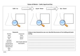 states of matter worksheet particle model by lewistull teaching