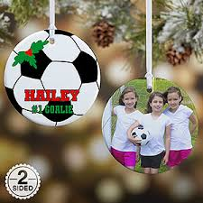 personalized soccer ornaments