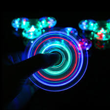 led light up toys wholesale china factory wholesale crystal 5 affections led lights hand spinner