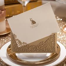 gold wedding invitations laser cut wedding invitations 2015 gold wedding invitation card