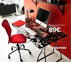 bureau ikea plateau verre bureau avec plateau en verre maison design bahbe com
