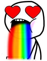 Throwing Up Rainbows Meme - puking rainbows meme generator imgflip