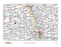 Map Of Counties In Nebraska Logan Creek Missouri River Drainage Divide Area Landform Origins