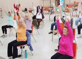 Armchair Yoga For Seniors Chair Yoga Is Huge Benefit For Granite City Senior Citizens