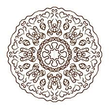 hand drawn henna tattoo mandala vector lace ornament indian