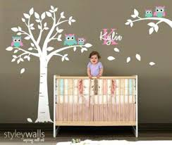 White Tree Wall Decal Nursery Tree Wall Decals For Nursery Baby Room Tree Wall Decals Unique Owl