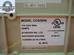 ccs 5000 crosscut personal desktop tabletop paper shredder