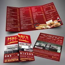 brochure design for a fast food restaurant brochure contest