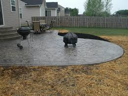 decorating exterior design using amazing stamped concrete patio