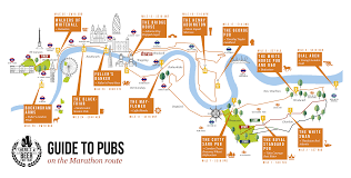 Choice Map Guide To Pubs Along The London Marathon 2016 Route U2013 Map Of Best