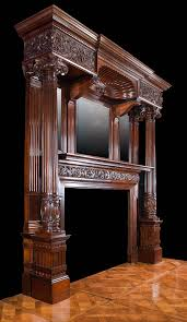 Michael Amini Fireplace Antique Mahogany Late Victorian Fireplace Mantel Fireplaces