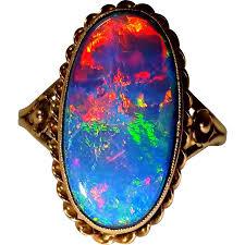 black opal rings images Beautiful vintage black opal ring 6 25 ophelia grace ruby lane jpg