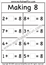 making 8 free printable worksheets u2013 worksheetfun
