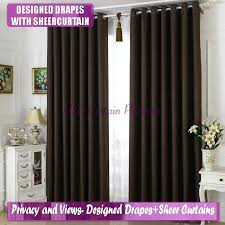 Chocolate Curtains Eyelet Faux Suede Blackout Curtains Faux Suede Lined Curtains Chocolate