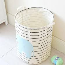 plastic laundry hamper aliexpress com buy cartoon laundry hamper elephant stripe