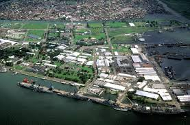 Balboa Naval Hospital Map A View Of The Naval Base Subic Bay With The City Of Olongapo In
