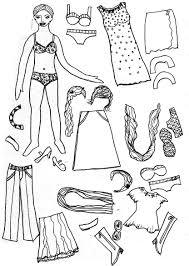 coloring pages kids paper dolls coloring page doll coloring