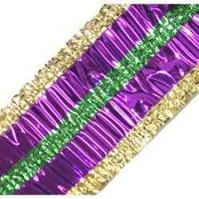 mardi gras ribbon 75ft green curling ribbon