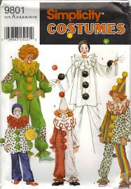 Halloween Costumes Sewing Patterns 22 Clowns Images Clown Costumes Costumes