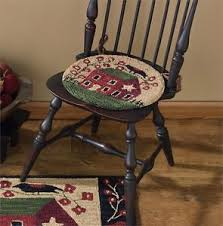 Country Hooked Rugs New Primitive Country Fok Art Salt House Star Hooked Rug Chair Pad