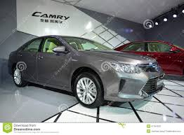 toyota th toyota new camry saloon car editorial stock photo image 47164933