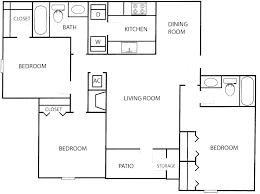 Two Bedroom Flat Floor Plan Images Two Bedroom Floor Plans 3 Bedroom Floor Plan Within 3