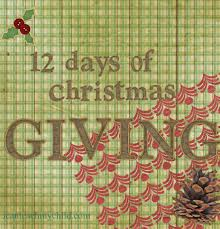 12 days of christmas giving i can teach my child