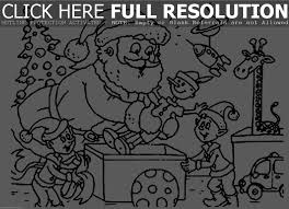 christmas coloring pictures of santa u2013 happy holidays
