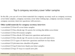 top5companysecretarycoverlettersamples 150621080615 lva1 app6892 thumbnail 4 jpg cb u003d1434874031
