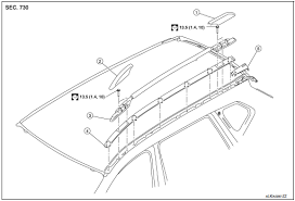 nissan rogue service manual roof rack removal and installation