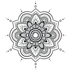 Coloriages Rangoli Easy Rangoli Coloring Pages  dmatechinfo