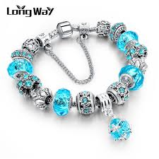 charm bracelet european images Longway european style authentic tibetan silver blue crystal charm jpg