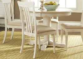 Casual Dining Room Tables by Oval Pedestal Casual Dining Table In Rubberwood Solids And