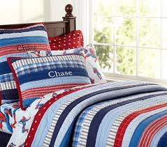 Pottery Barn Kids Quilts Pottery Barn Kids Patchwork Stripes Quilted Bedding Decor Look