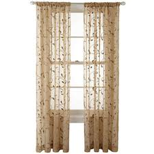 yellow sheer curtains for window jcpenney