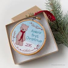 Christmas Ornaments Baby 122 Best Christmas Ornaments Baby U0027s First Images On Pinterest