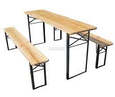 Folding Wooden Garden Table Wooden Garden Table Ebay