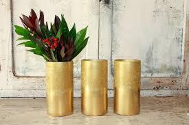 3 Vases Set Ombre Gold Glitter Vase Set Of 3 Gold Vases For Wedding