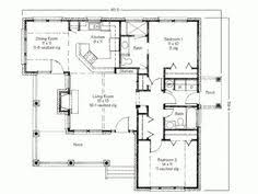 Two Bed Room House Plan 44091td Designed For Water Views Scale Bedrooms And Kitchens