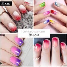 bukaki glitter shimmer dark red temperature change color nail