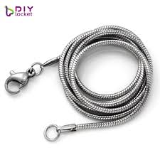 silver chain necklace snake images 1 5mm stainless steel snake chain necklace 50cm chain for pendant jpg