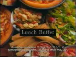 Cheap Lunch Buffet by Pizza Hut Lunch Buffet Television Commercial 1994 Youtube