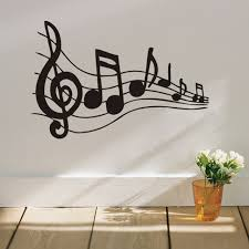 music note home decor dancing musical note home decor wall stickers for music fans room